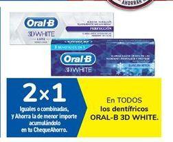 Oferta de En TODOS los dentífricos ORAL-B 3D WHITE por
