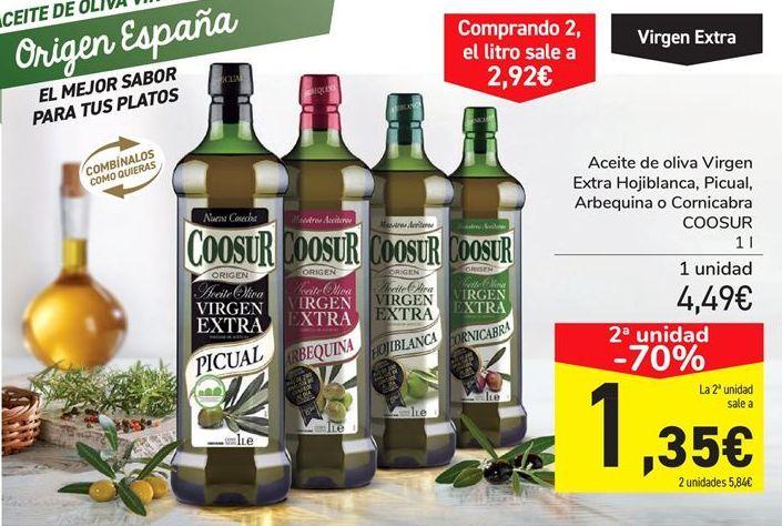 Oferta de Aceite de oliva Virgen Extra Hojiblanca, Picual, Arbequina o Cornicabra COOSUR por 4.49€
