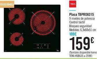 Oferta de Placa TBPRO6315 por 159€