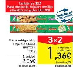 Oferta de Masas refrigeradas Hojaldre o Brisa BUITONI por 2,04€