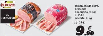 Oferta de Jamón cocido extra, braseado o reducido en sal EL POZO por 9.9€