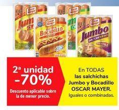 Oferta de En TODAS las salchichas Jumbo y Bocadillo OSCAR MAYER por