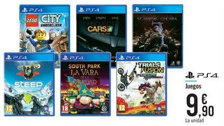 Oferta de Juegos PS4 por 9,9€
