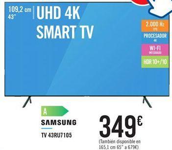 Oferta de TV 43RU7105 SAMSUNG por 349€