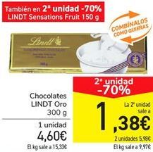 Oferta de Chocolates LINDT Oro por 4.6€