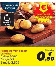 Oferta de Patata de freír o cocer Carrefour por 0,9€