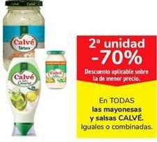 Oferta de En TODAS las mayonesas y salsas CALVÉ por
