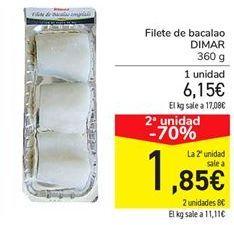 Oferta de Filete de bacalao DIMAR por 6.15€