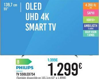 Oferta TV 55OLED754 PHILIPS Carrefour