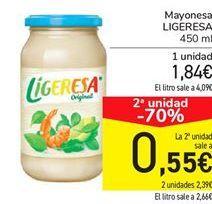 Oferta de Mayonesa LIGERESA por 1,84€