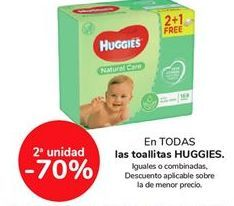 Oferta de En TODAS las toallitas HUGGIES por