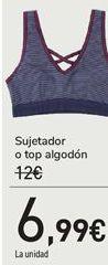 Oferta de Sujetador o top algodón por 6,99€