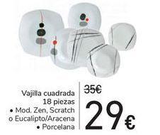 Oferta de Vajilla cuadrada 18 piezas  por 29€