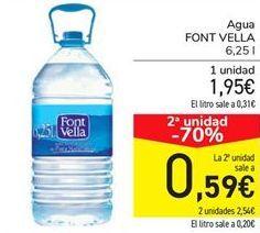Oferta de Agua FONT VELLA por 1.95€