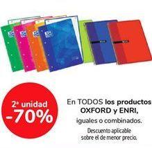 Oferta de En TODOS los productos OXFORD y ENRI, iguales o combinados por