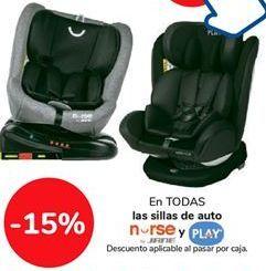 Oferta de En TODAS las sillas de auto NURSE y PLAY por