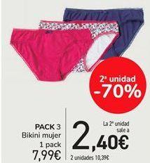 Oferta de PACK 3 bikini mujer  por 7,99€