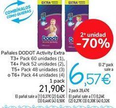 Oferta de Pañales DODOT Activity Extra por 21,9€