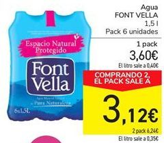 Oferta de Agua FONT VELLA por 3.6€