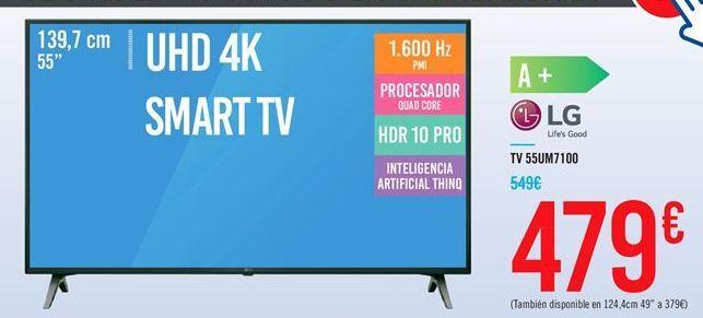 Oferta de TV 55UM7100 LG por 479€
