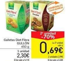 Oferta de Galletas Diet Fibra GULLÓN por 2,3€