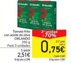 Oferta de Tomate frito con aceite de oliva ORLANDO por 2.51€