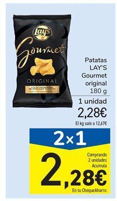 Oferta de Patatas LAY'S Gourmet original por 2,28€
