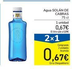 Oferta de Agua Solán de Cabras por 0,67€