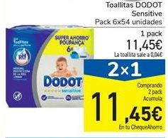 Oferta de Toallitas Dodot sensitive por 11,45€
