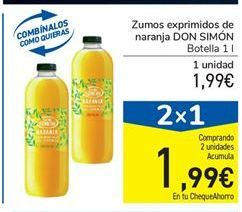 Oferta de Zumos exprimidos de naranja DON SIMÓN por 1,99€