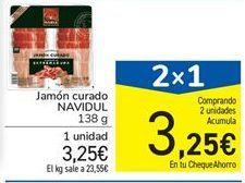 Oferta de Jamón curado NAVIDUL 138 g por 3,25€