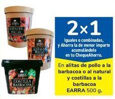 Oferta de En alitas de pollo a la barbacoa o al natural y costillas a la barbacoa EARRA 500 g. por