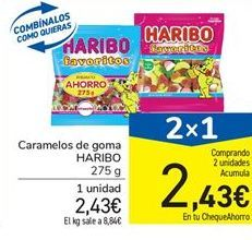Oferta de Caramelos de goma Haribo por 2,43€