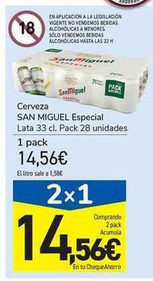 Oferta de Cerveza SAN MIGUEL Especial por 14.56€