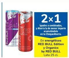Oferta de En energéticos RED BULL Edition y Organics by RED BULL por