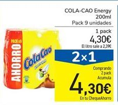 Oferta de COLA-CAO Energy 200ml por 4,3€