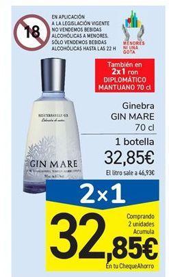 Oferta de Ginebra Gin Mare por 32,85€