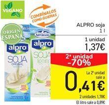 Oferta de ALPRO soja por 1,37€