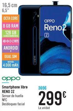 Oferta de Smartphone libre RENO 2Z por 299€
