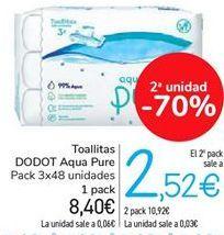 Oferta de Toallitas DODOT Aqua Pure por 8,4€