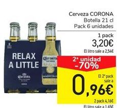 Oferta de Cerveza CORONA por 3,2€