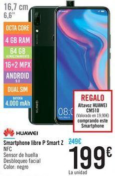 Oferta de Smartphones libre P Smart Z por 199€