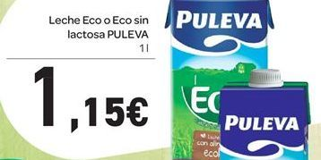 Oferta de Leche Eco o Eco sin lactosa PULEVA por 1,15€