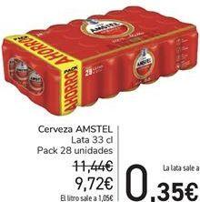 Oferta de Cerveza AMSTEL por 9,72€