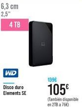 Oferta Disco duro Elements SE WD Carrefour
