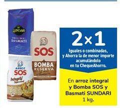Oferta de En arroz integral y Bomba SOS y Basmati SUNDARI 1 kg. por