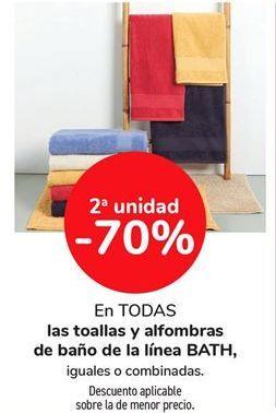 Oferta de En todas las toallas y alfombras de baño de la línea BATH, iguales o combinadas por