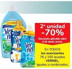 Oferta de TODOS los suavizantes 76 y 150 lavados VERNEL por