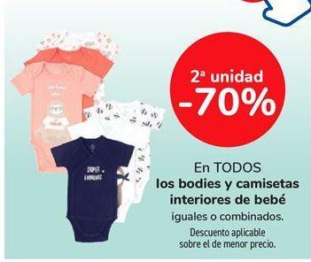 Oferta de En todos los bodies y camisetas interiores de bebé iguales o combinados por
