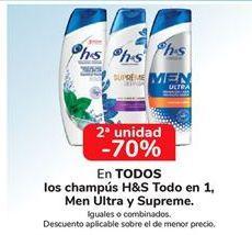 Oferta de Champú H&S todo en 1, Men Ultra y Supreme por